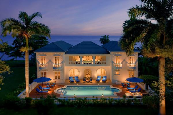 Una delle ville dell'hotel Half Moon in Giamaica